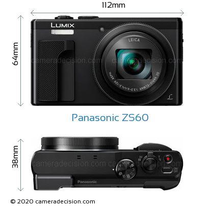 Panasonic ZS60 Body Size Dimensions