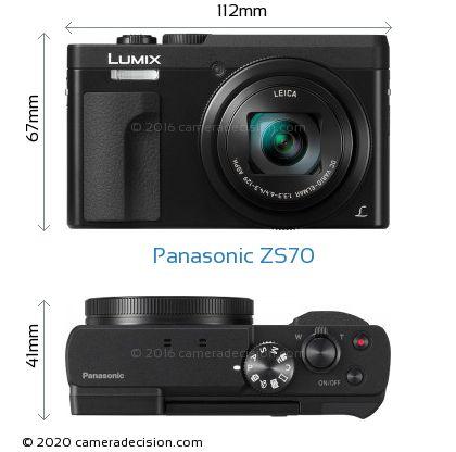 Panasonic ZS70 Body Size Dimensions