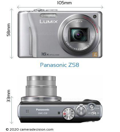 Panasonic ZS8 Body Size Dimensions