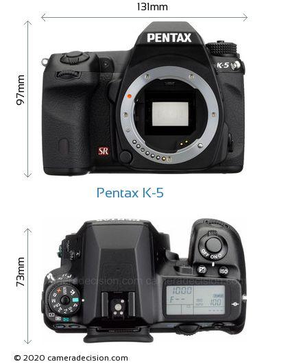 Pentax K-5 Body Size Dimensions