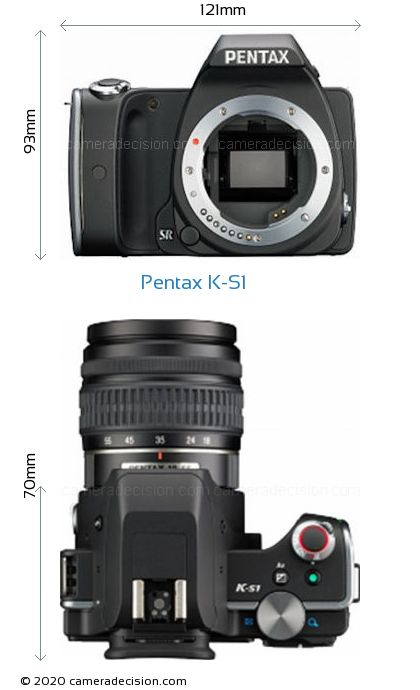 Pentax K-S1 Body Size Dimensions
