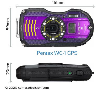 Pentax WG-1 GPS Body Size Dimensions