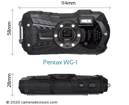 Pentax WG-1 Body Size Dimensions