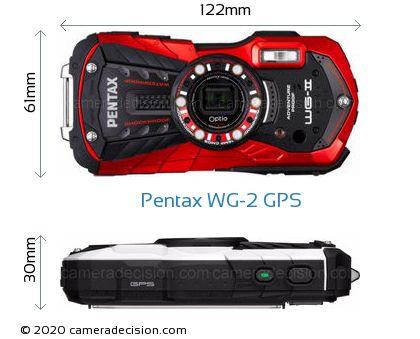 Pentax WG-2 GPS Body Size Dimensions