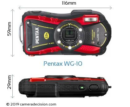 Pentax WG-10 Body Size Dimensions