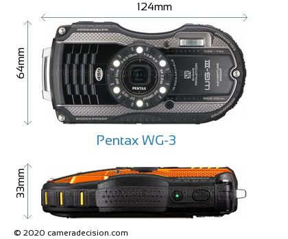 Pentax WG-3 Body Size Dimensions