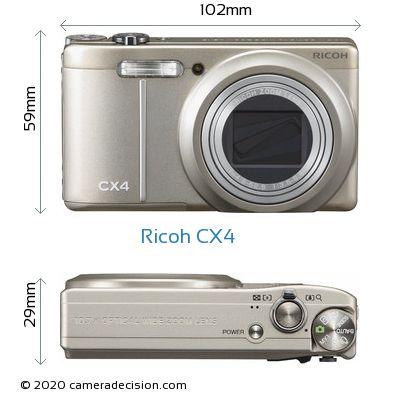 Ricoh CX4 Body Size Dimensions