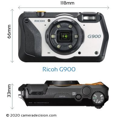 Ricoh G900 Body Size Dimensions