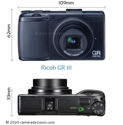 Ricoh GR III Body Size Dimensions