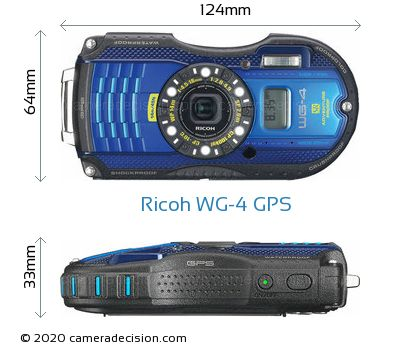 Ricoh WG-4 GPS Body Size Dimensions