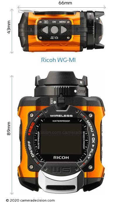 Ricoh WG-M1 Body Size Dimensions