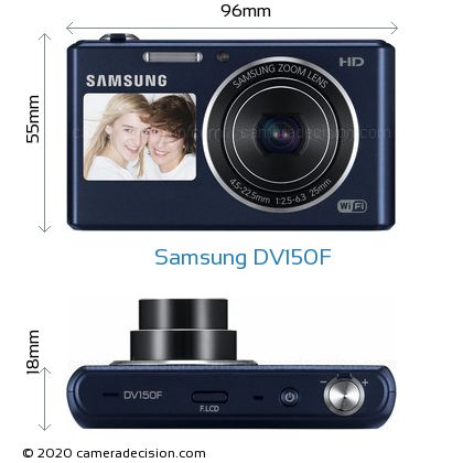 Samsung DV150F Body Size Dimensions