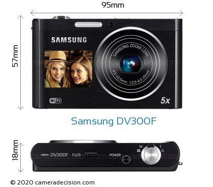 Samsung DV300F Body Size Dimensions