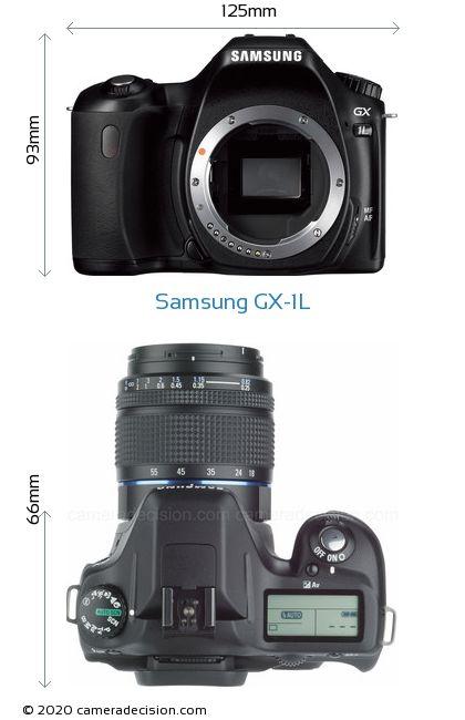 Samsung GX-1L Body Size Dimensions