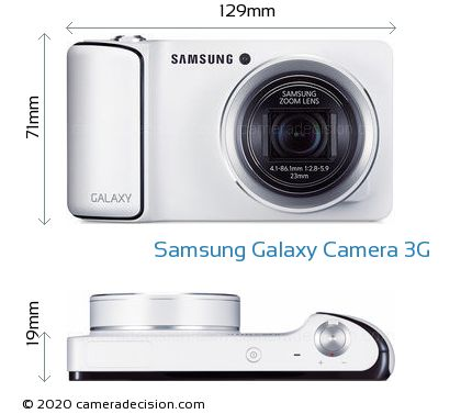 Samsung Galaxy Camera 3G Body Size Dimensions