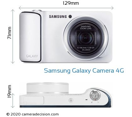 Samsung Galaxy Camera 4G Body Size Dimensions