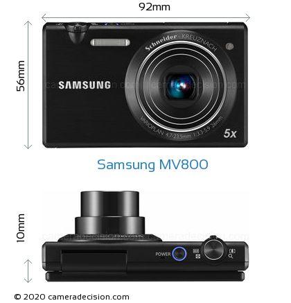 Samsung MV800 Body Size Dimensions