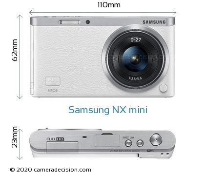 Samsung NX mini Body Size Dimensions