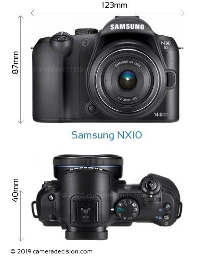 Samsung NX10 Body Size Dimensions
