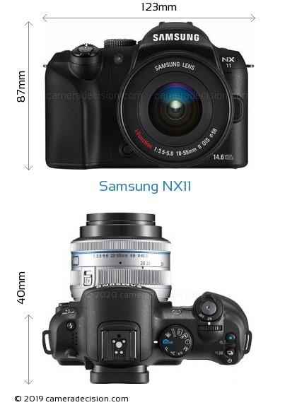 Samsung NX11 Body Size Dimensions