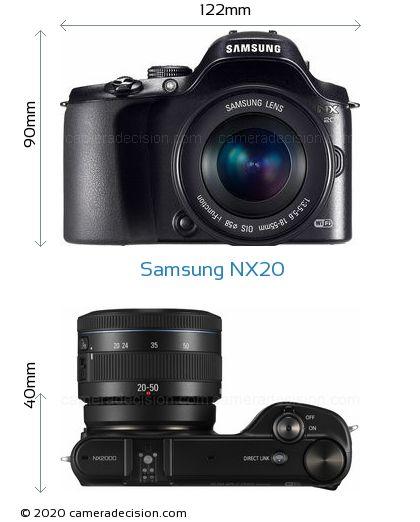 Samsung NX20 Body Size Dimensions