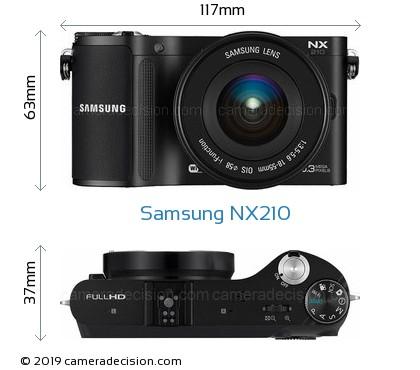 Samsung NX210 Body Size Dimensions
