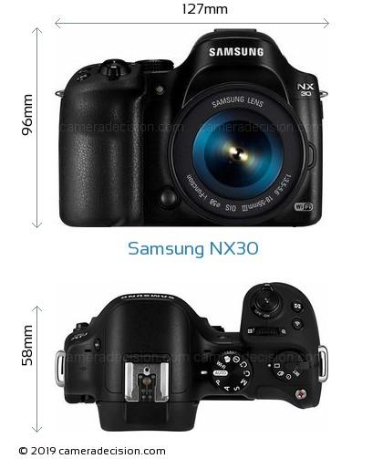 Samsung NX30 Body Size Dimensions