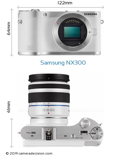 Samsung NX300 Body Size Dimensions