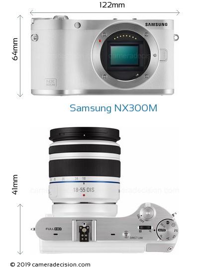 Samsung NX300M Body Size Dimensions