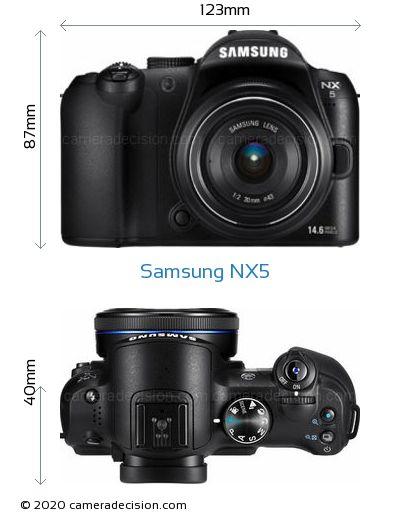 Samsung NX5 Body Size Dimensions