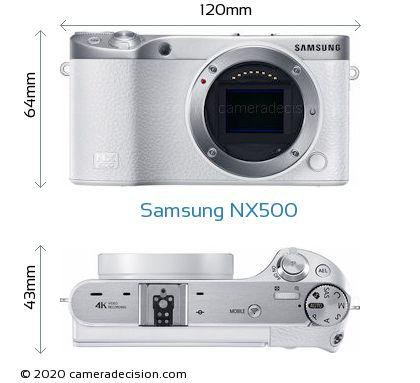 Samsung NX500 Body Size Dimensions