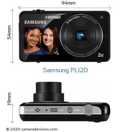 Samsung PL120 Body Size Dimensions
