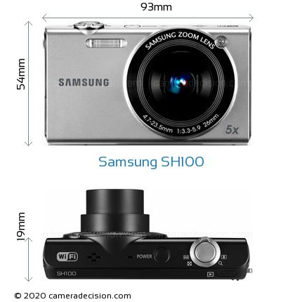 Samsung SH100 Body Size Dimensions