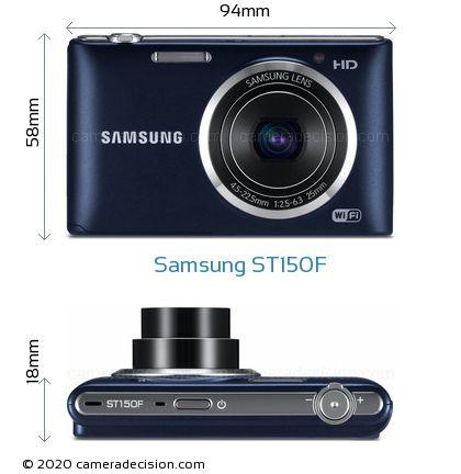 Samsung ST150F Body Size Dimensions