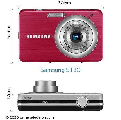 Samsung ST30 Body Size Dimensions