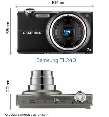 Samsung TL240 Body Size Dimensions