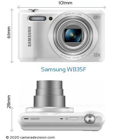 Samsung WB35F Body Size Dimensions