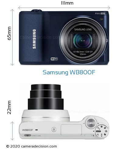 Samsung WB800F Body Size Dimensions