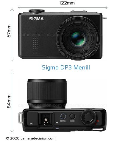 Sigma DP3 Merrill Body Size Dimensions