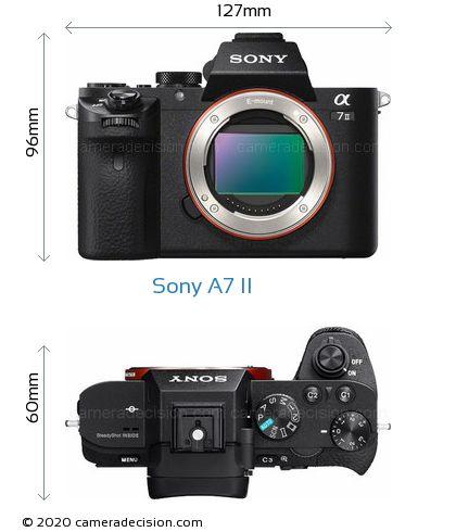 Sony A7 II Body Size Dimensions