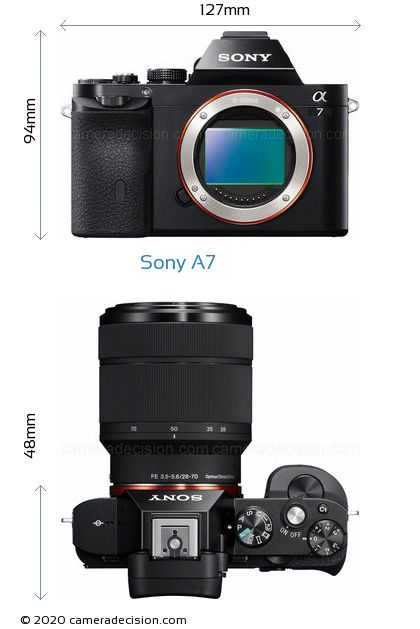 Sony A7 Body Size Dimensions
