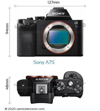 Sony A7S Body Size Dimensions