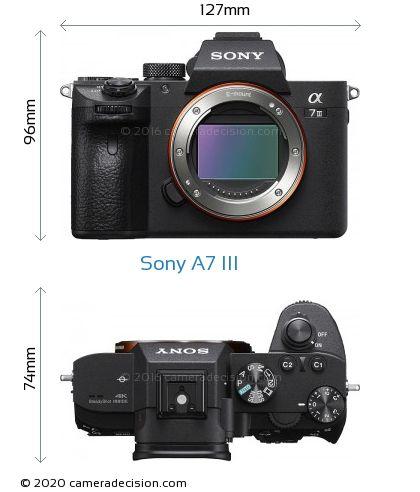 Sony A7 III Body Size Dimensions