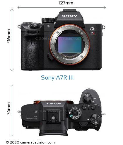Sony A7R III Body Size Dimensions