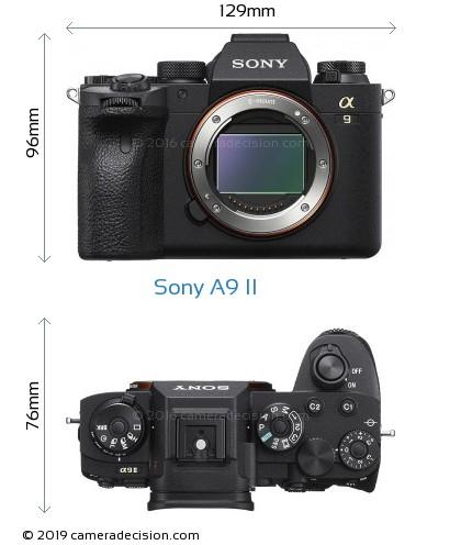 Sony A9 II Body Size Dimensions