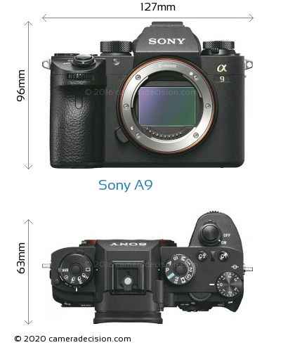 Sony A9 Body Size Dimensions