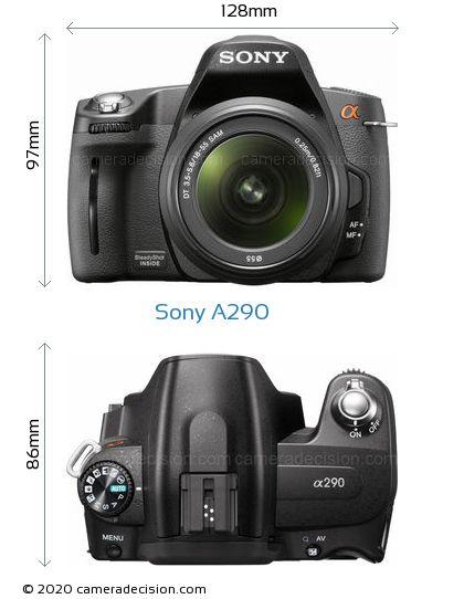 Sony A290 Body Size Dimensions