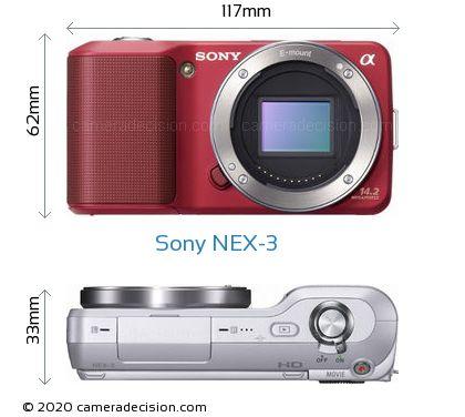 Sony NEX-3 Body Size Dimensions