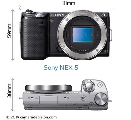 Sony NEX-5 Body Size Dimensions