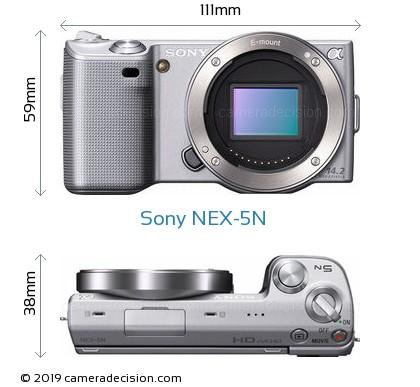 Sony NEX-5N Body Size Dimensions